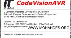دانلود کامپایلر CodeVision AVR 2.05.3