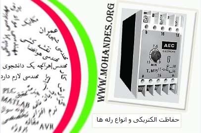 مقاله حفاظت الکتریکی و انواع رله ها